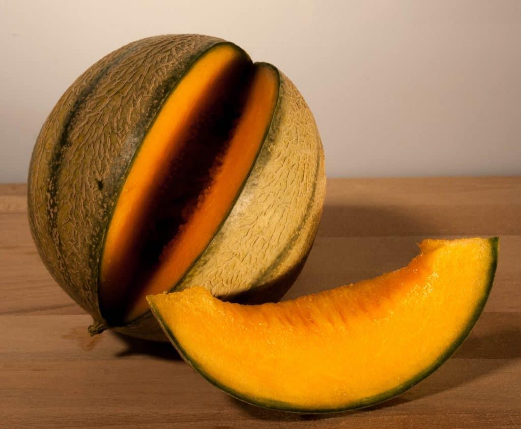 Ein Stück Melone.